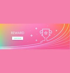 Reward web banner vector
