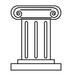 Roman pillar icon outline style vector
