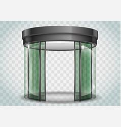 Round glass doors vector