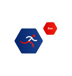 running logo sport event icon vector image