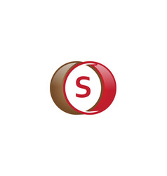 s letter circle logo vector image