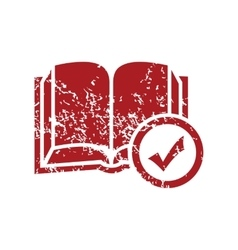 Select book red grunge icon vector