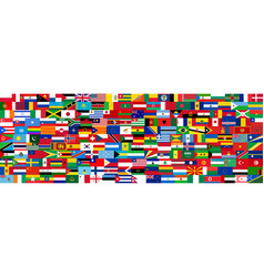 Set flags all countries vector