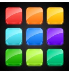 Set luminous color apps icons vector