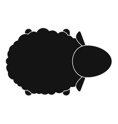 sheep air view icon simple style vector image