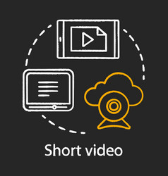 Short video chalk concept icon awareness content vector