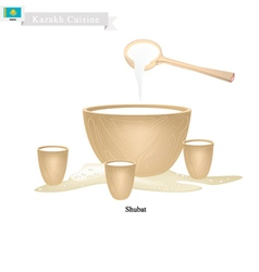 Shubat or Kazakh Fermented Camel Milk vector