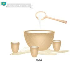 Shubat or kazakh fermented camel milk vector