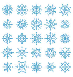 snowflake stars winter frost snowflakes xmas vector image
