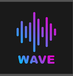 Sound wave logotype of and music vector