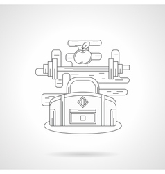 Sports training detail line icon vector image