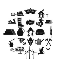 stockroom icons set simple style vector image