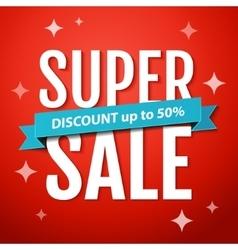 Super Sale banner design template vector image