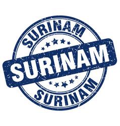 Surinam blue grunge round vintage rubber stamp vector