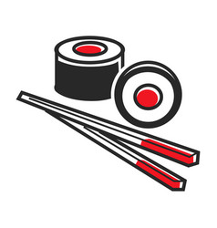 sushi and sticks vector image