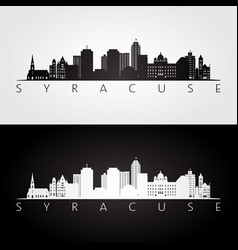Syracuse usa skyline and landmarks silhouette vector