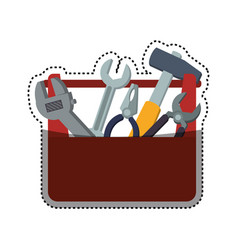 toolbox carpentry portable vector image