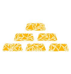 Treasure bricks collage of triangles vector