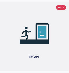 Two color escape icon from law and justice vector