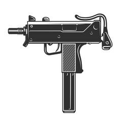 Vintage uzi weapon concept vector