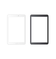 White and black tablet vector