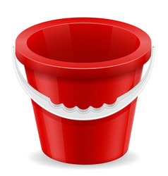 beach red bucket childrens toy for sand stock vector image