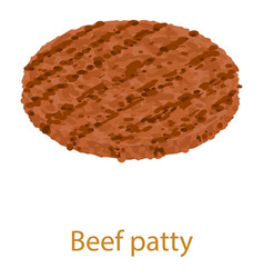 beef cutlet icon isometric 3d style vector image vector image