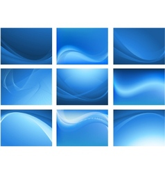 blue abstract waving background vector image vector image