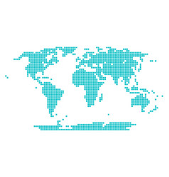 World map of squares royalty free vector image dotted world map square point vector image gumiabroncs Image collections