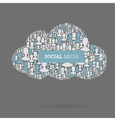 social media conceptual vector image