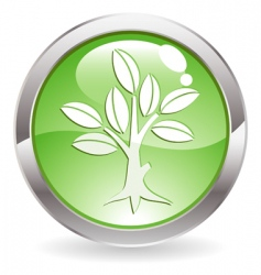 button with tree vector image vector image
