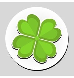 Clover sticker icon flat style vector image vector image