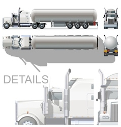 detailed tanker truck vector image vector image