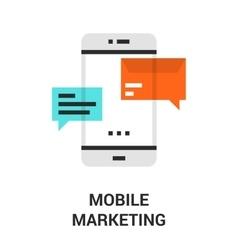 mobile marketing icon vector image vector image