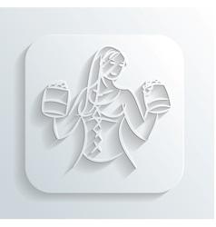 Oktoberfest woman icon vector image vector image
