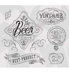 Vintage Elements for pub vector image vector image