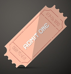 Admit One Ticket vector image