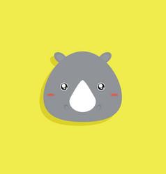 Cartoon rhino face vector