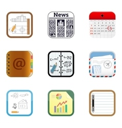 Documents apps icons vector image