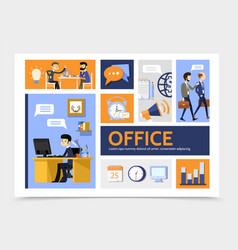 flat business infographic template vector image