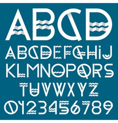 Paper font and numbers vector image vector image