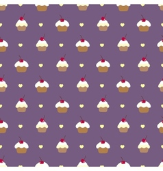Cupcake seamless pattern Can be used in textiles vector image vector image