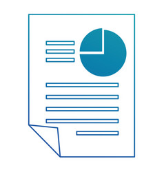 document with statistics icon vector image