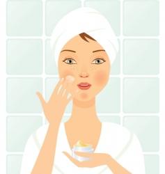 facial care vector image