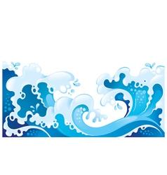 giant ocean waves background vector image
