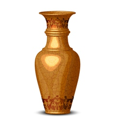 golden ornate vase vector image vector image
