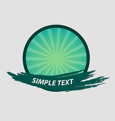 Green brush banner badge and labels vector