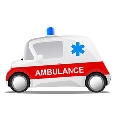 mini car cartoon ambulance vector image
