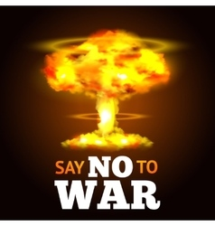 Nuclear Explosion Poster vector image