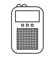 portable radio icon outline style vector image